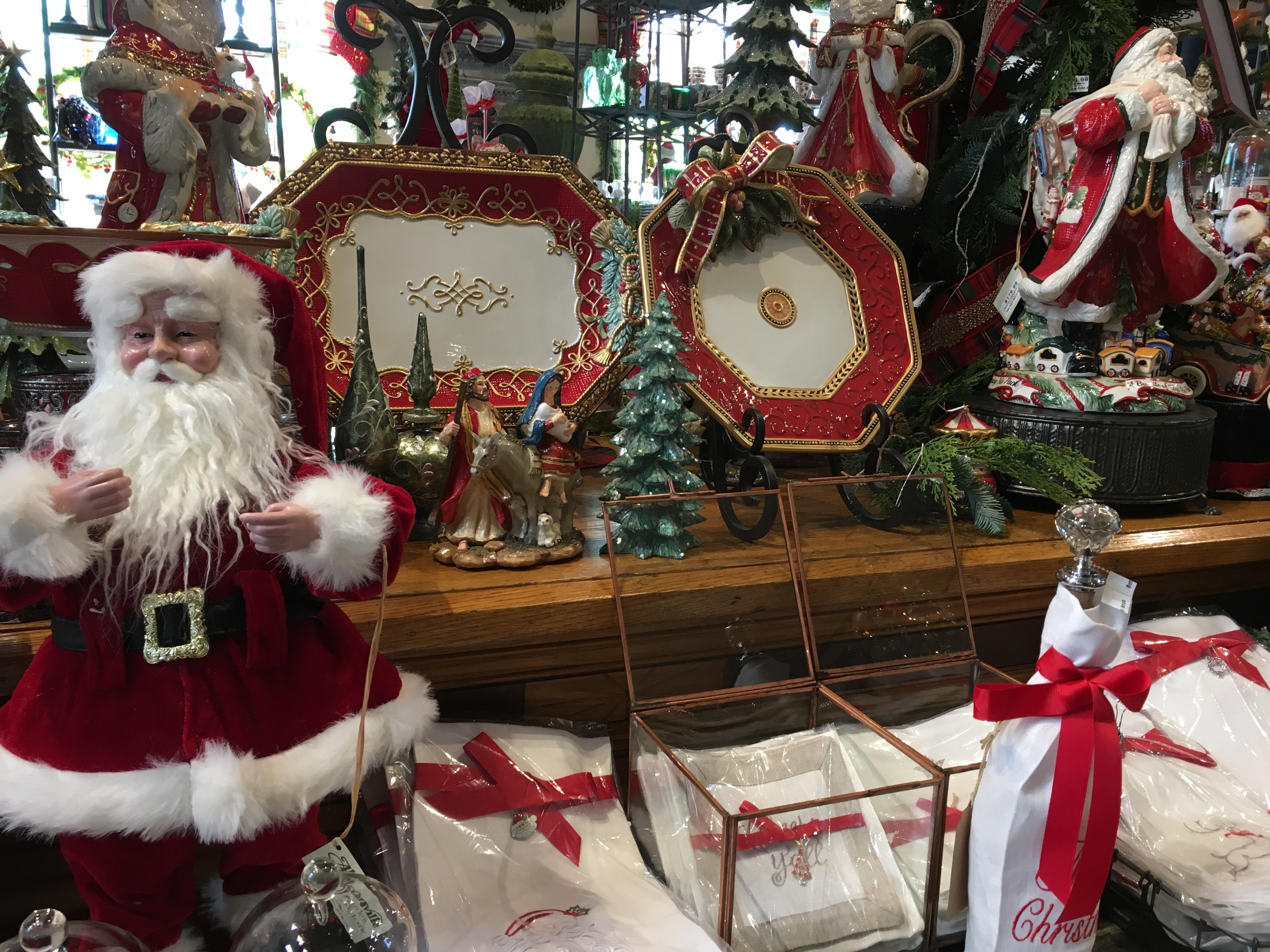 Christmas Plates and Santa