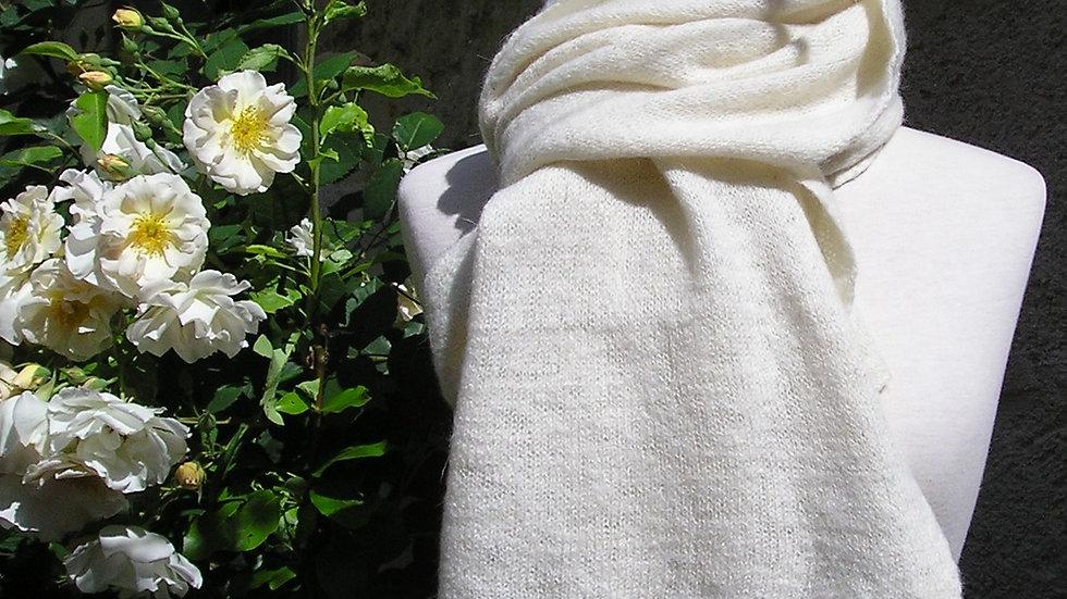 Etole Cachemire écrue tricotée 143 gr