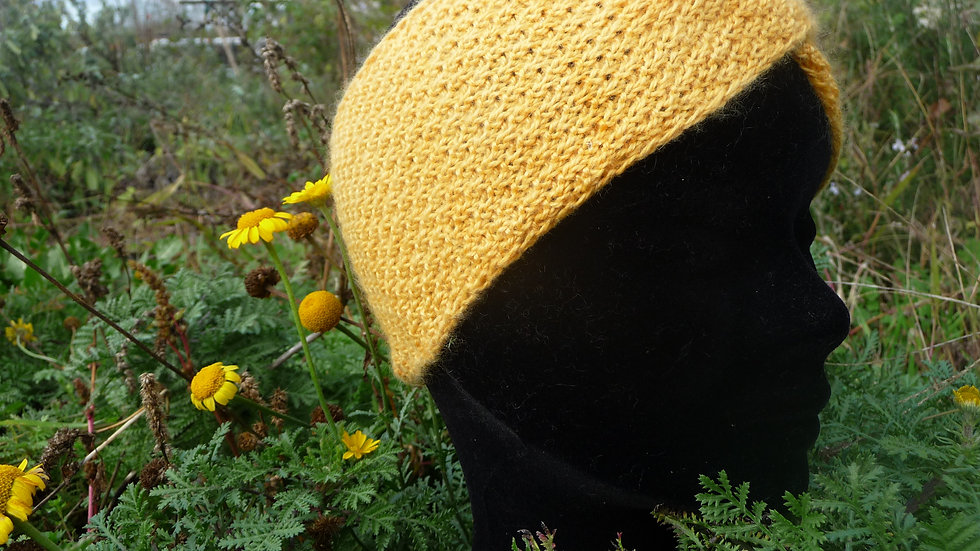 Bandeau Cachemire orangé tricoté