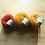 Thumbnail: Fil fin 100% Cachemire - taille aiguille 2,5- rouge et orangés