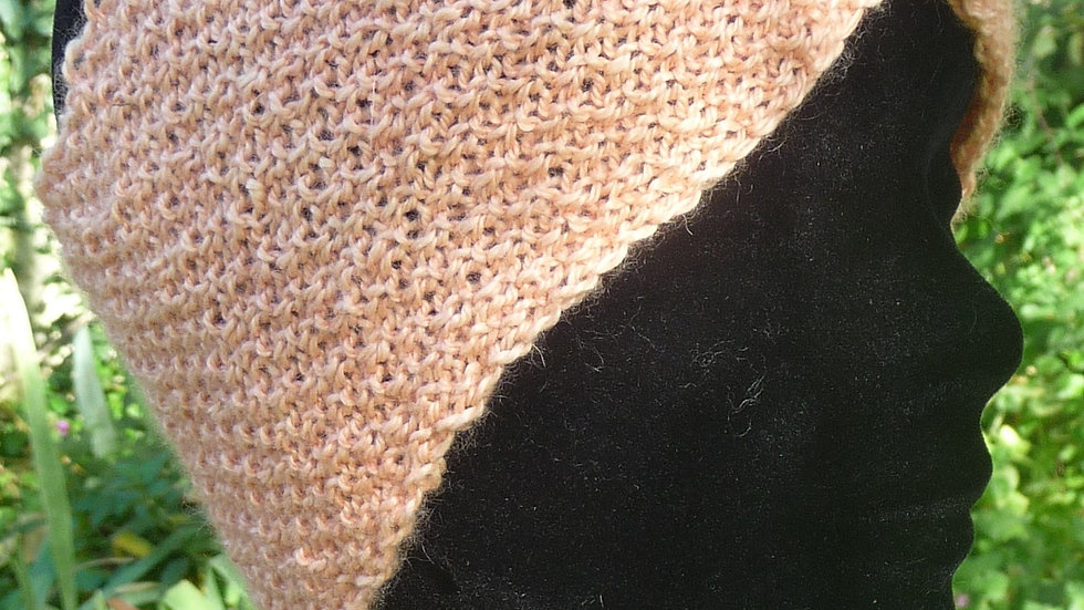 Bandeau Cachemire saumon tricoté