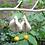 Thumbnail: Boucles d'oreilles cachemire blanc