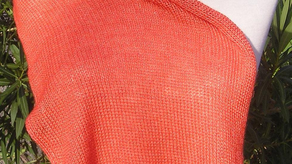 Echarpe Cachemire rouge tricotée