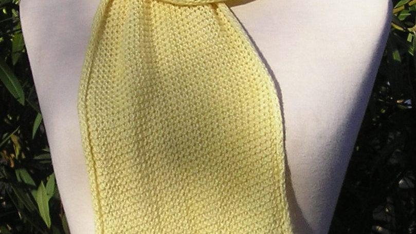 Echarpe Cachemire jaune tricotée 64 gr