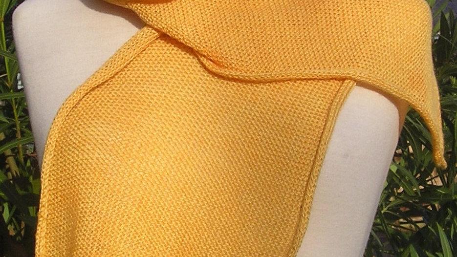 Echarpe Cachemire orangée tricotée
