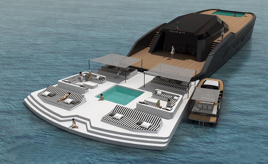 Aurea 100' Concept - con spiaggetta gonf