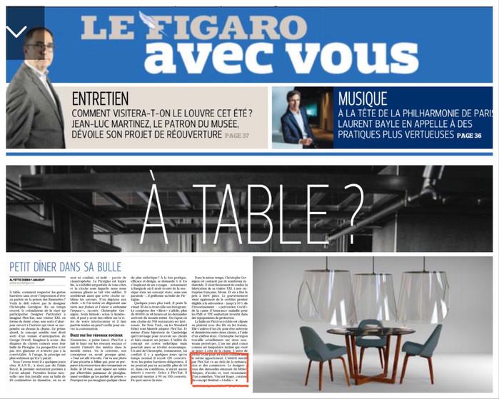 Reprise imminente A TABLE ! sous les cloches du designer Christophe Gernigon.