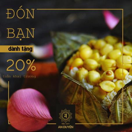 Đón bạn - Bếp Xanh An Duyên giảm 20%