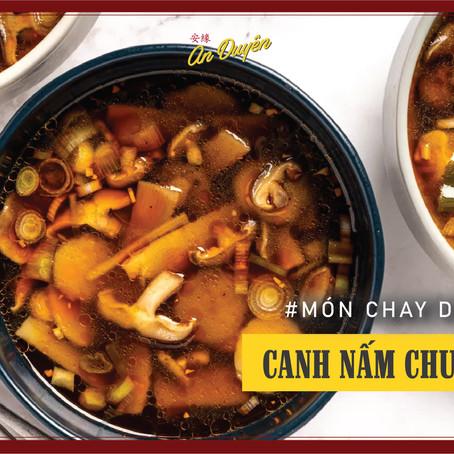 Món chay dễ làm - Canh nấm chua cay
