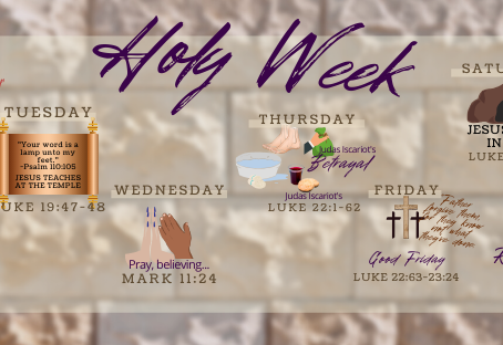 It's Holy Week