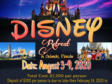 Chosen Generation's 16th Year Disney Retreat