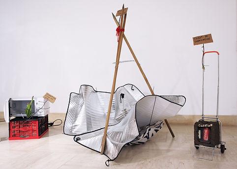 Camille Franch-guerra, Rickshabitaclomarchand, installation,