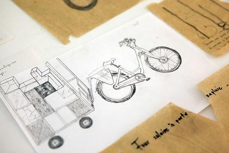 Camille Franch-guerra, Rickshabitaclomarchand, installation, dessins