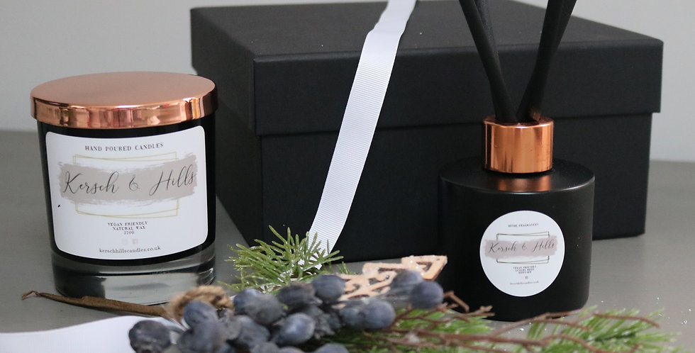 Gift Box: Contains large candle & diffuser