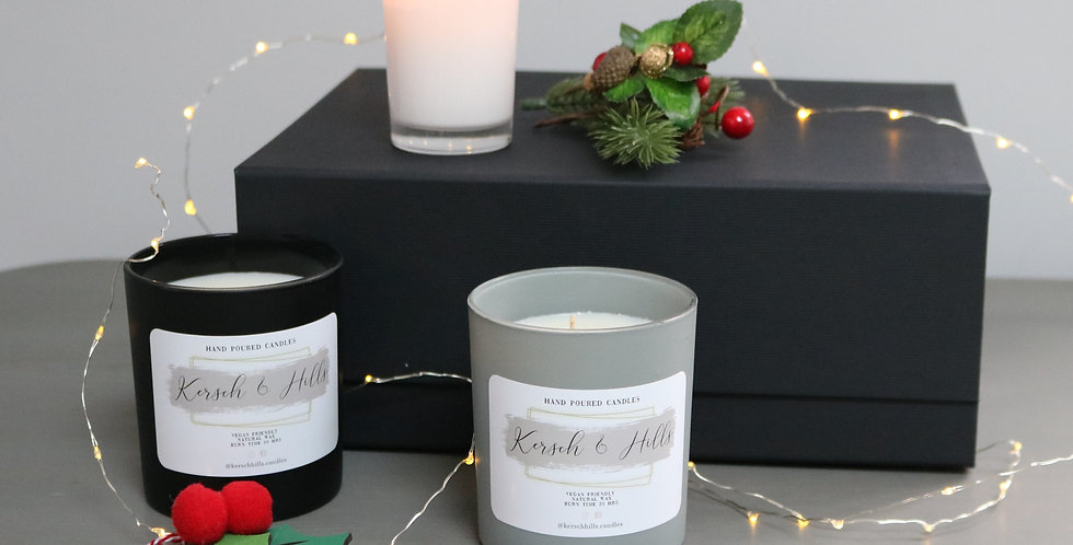 Gift Box Contains 2 candles & votive