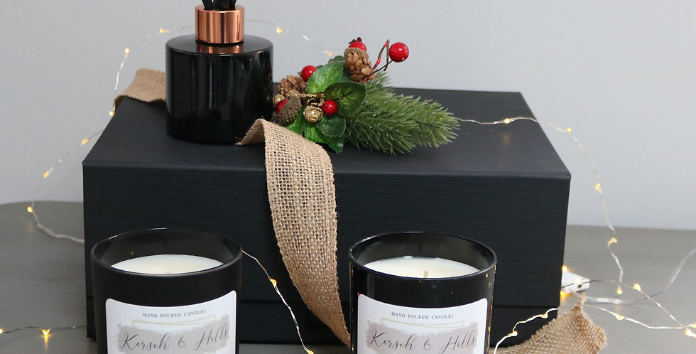 Gift Box Contains: 2 candles & diffuser