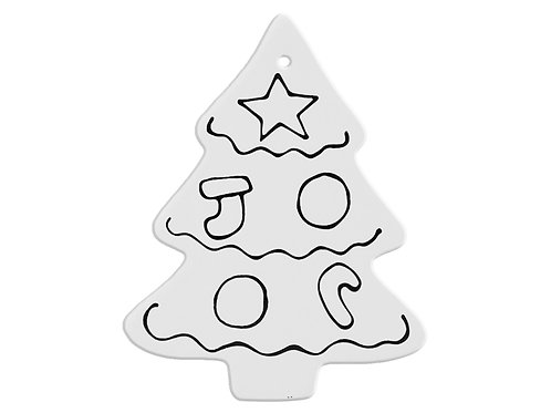 Hand Detailed Classic Christmas Tree Party Ornament