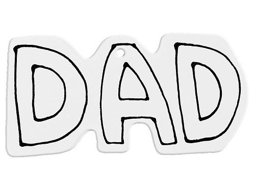 Hand Detailed Dad Word Party Ornament