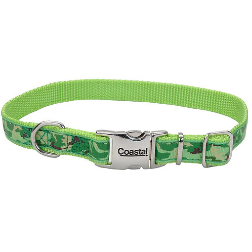 Lime Camoflage Dog Collar ~ S/M