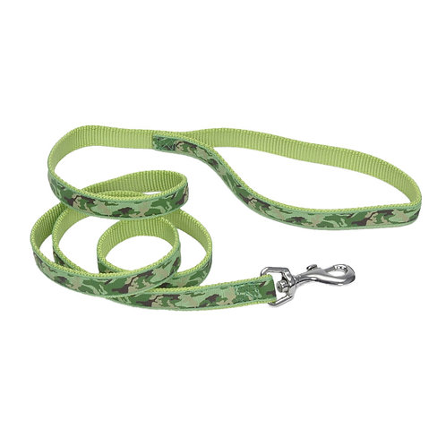 "1""W Lime Camoflage 6' Dog Leash"