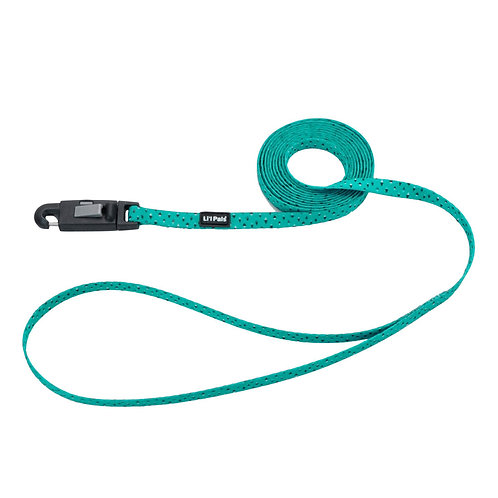 Lil Pals 6' Teal and Geey Diamonds Dog Leash