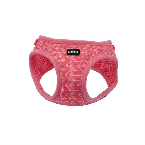 Lil Pals Pink Chevron Dog Harness