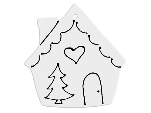 Hand Detailed Gingerbread House Party Ornament