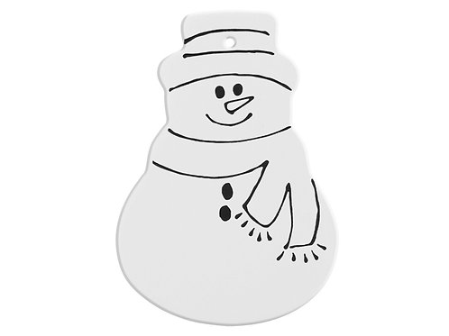 Hand Detailed Snowman Party Ornament