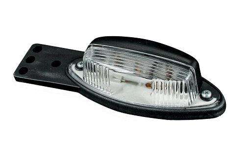 Фонарь габаритный черно-белого цвета с плоским кронштейном FT-010-1-1