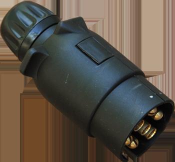 Вилка прицепа 7-ми контактная пластиковая защелка