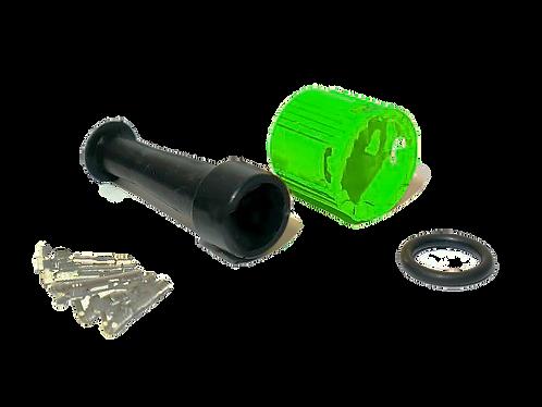 Байонет 5-pin влагозащищенный разъём зелёный