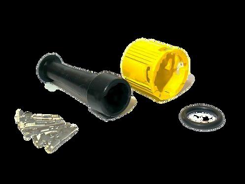 Байонет 5-pin влагозащищенный разъем желтый