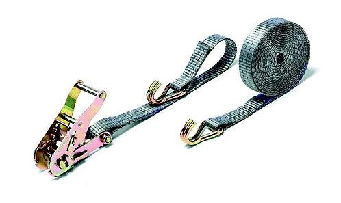 Стяжной ремень для груза с крюками 0.75 - 1.5 т длина 4 м