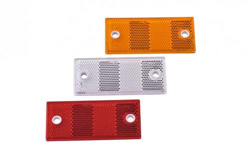 Светоотражатель красный 90x40 мм с отверстиями
