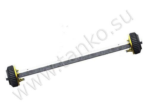 Ось рессорная с тормозом до 1800 кг 5x112 AL-KO квадратная труба