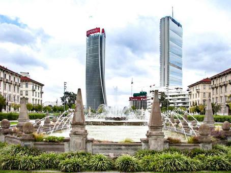 La fontana delle Quattro Stagioni a Milano
