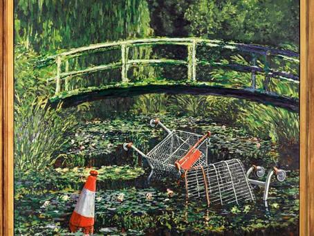 """Banksy, battuta all'asta la sua opera """"Show Me The Monet"""""""