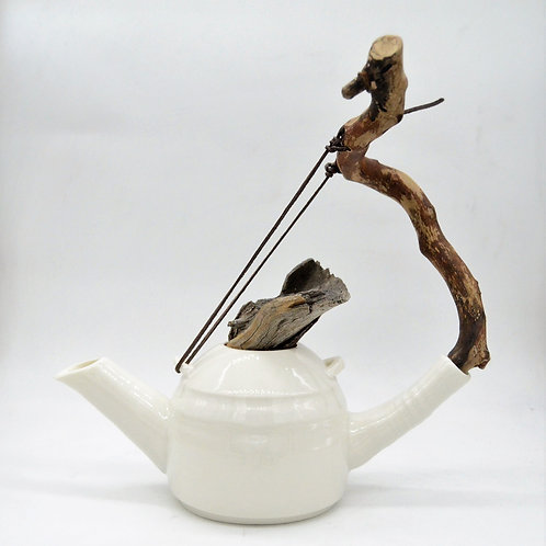 """Porcelain kettle """"With the wind"""""""