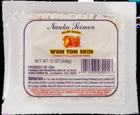 WON-TON SKIN  12pza 340g