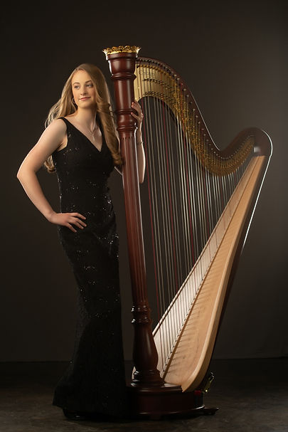 Colorado Springs harpist Rachael Stone pedal harp