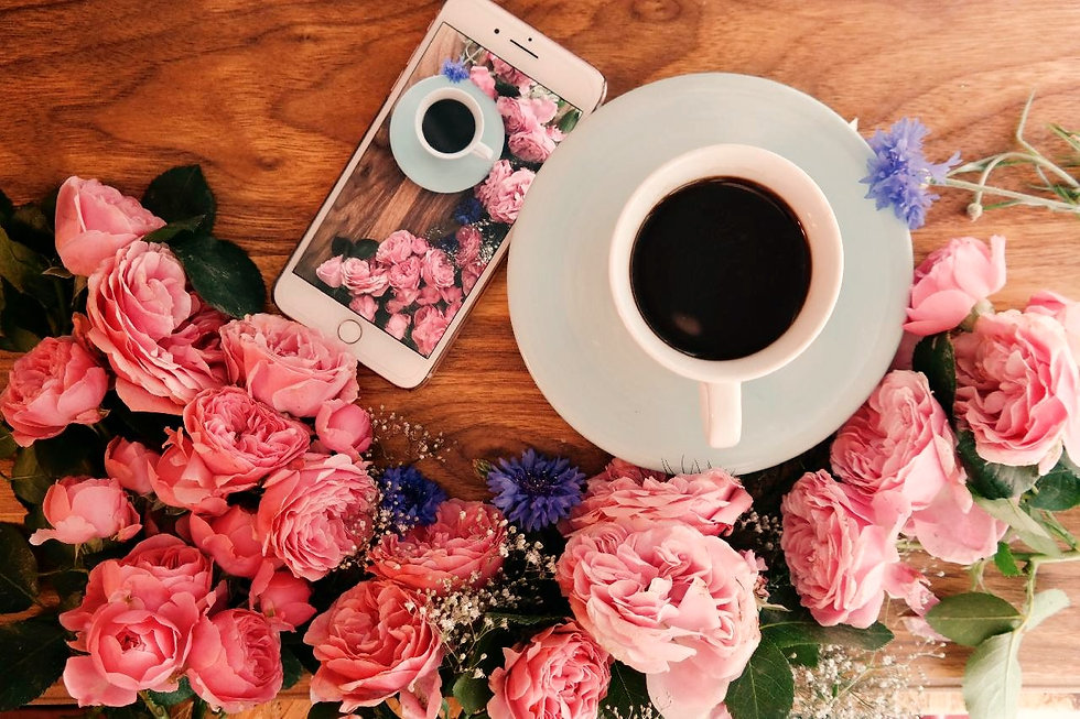 Roses and coffee thanks to great testmonials