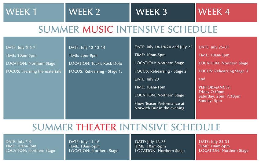 School of Rock Summer Camp Schedule