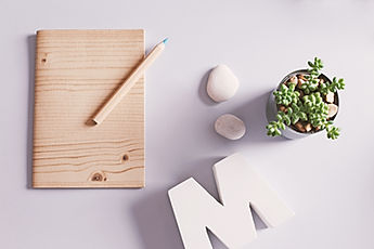 Desk with Stationery