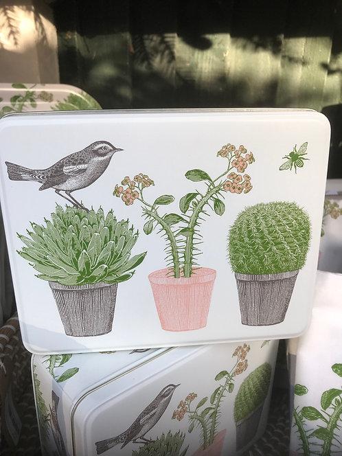 Thornback & Peel Cactus and Bird Tin