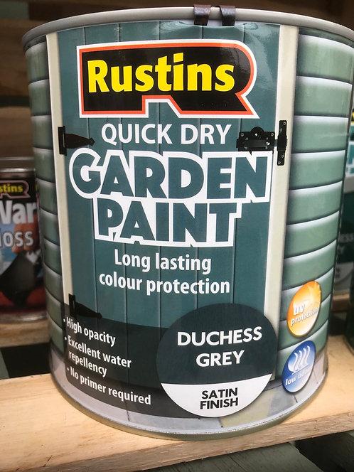 "Rustins Garden Paint ""Duchess Grey"" 2.5L"
