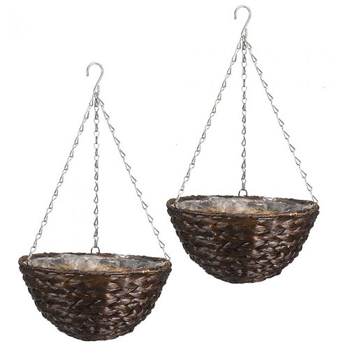 """14"""" Hyacinth Dark Hanging Basket"""