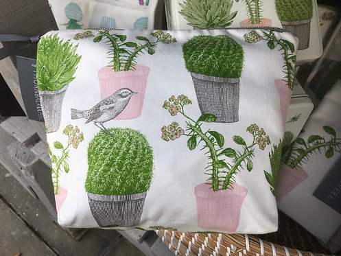 Thornback & Peel Cactus and Bird Cosmetic Bag