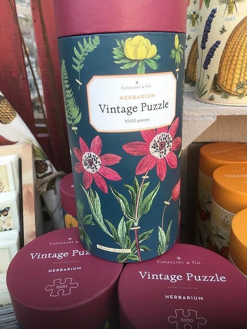 """Cavallini & Co """"Herbarium"""" Vintage Puzzle"""