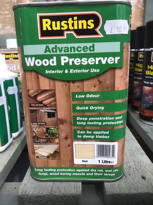 "Rustins Advanced Wood Preserver ""Clear"" 1L"