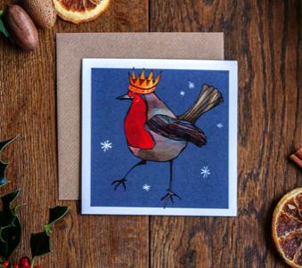 "Katie Cardew ""Robin""Festive Cards (6 Pack)"
